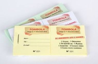 creation carnet ticket tombola meximieux rhone ain isere